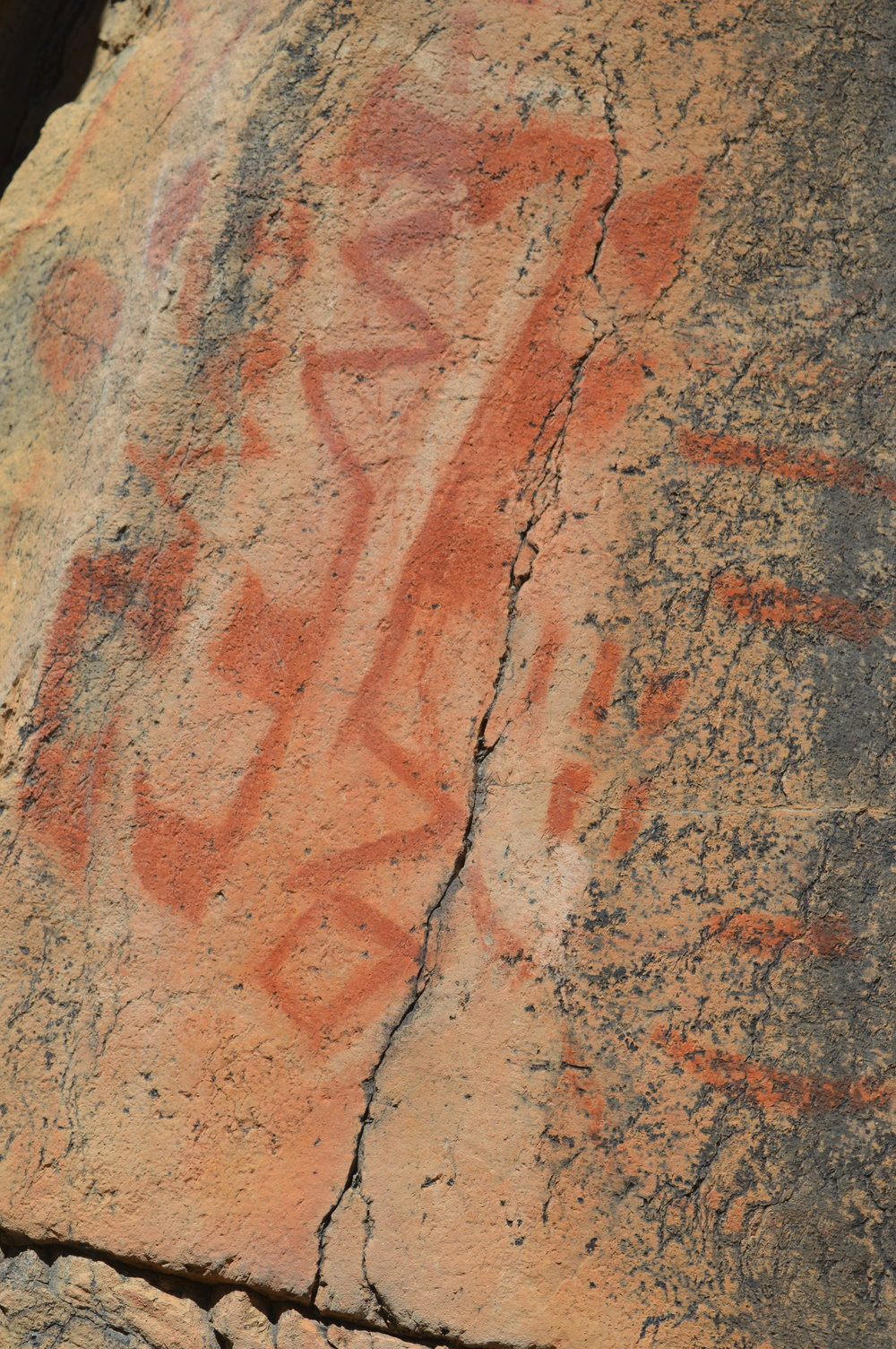 Cave paintings at La Bocana