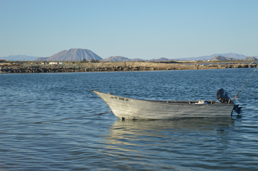 Panga in Bahia de los Angeles.