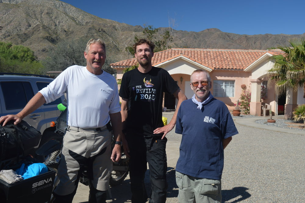 Producer Todd and Director JT with Author and Baja Storyteller Graham Mackintosh.
