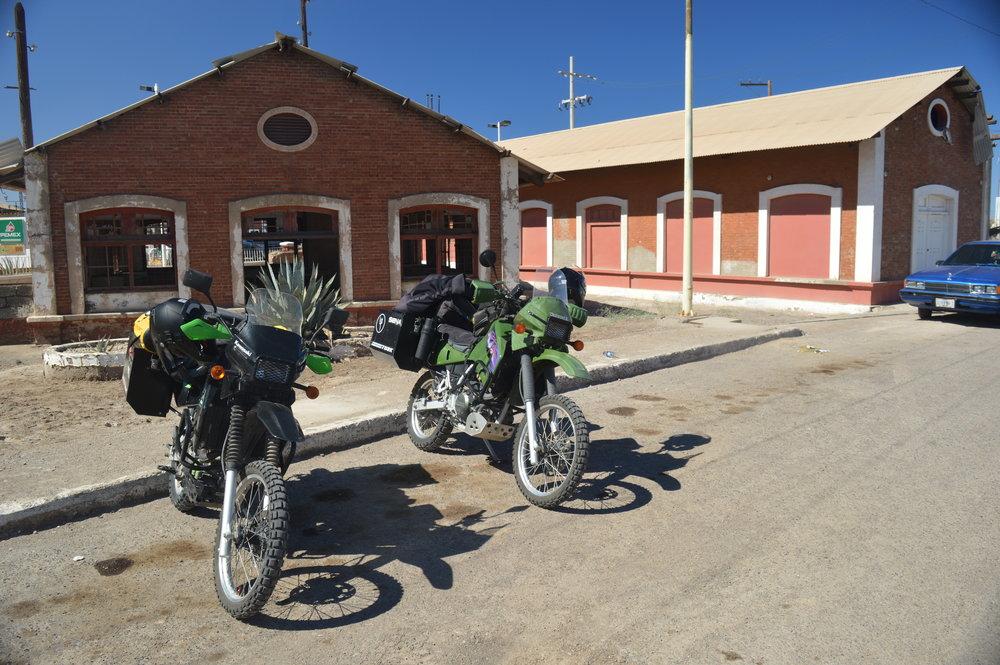 Bikes near the historic El Boleo site in Santa Rosalia.