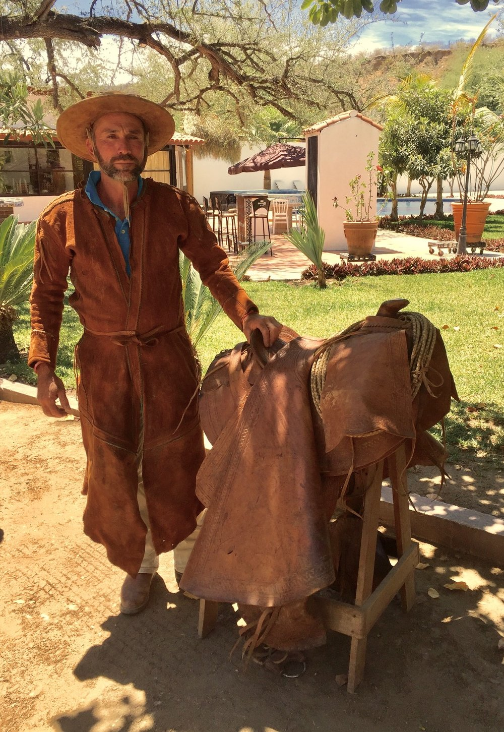 Oscar in traditional vaquero dress.
