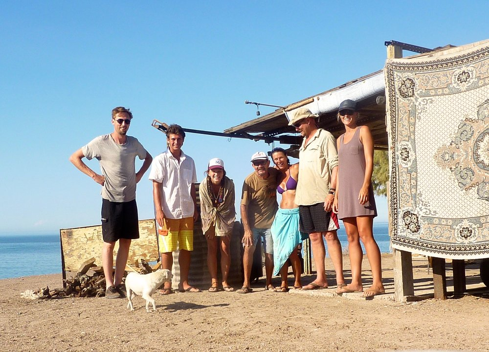 Pancho and our family during a 2015 trip.