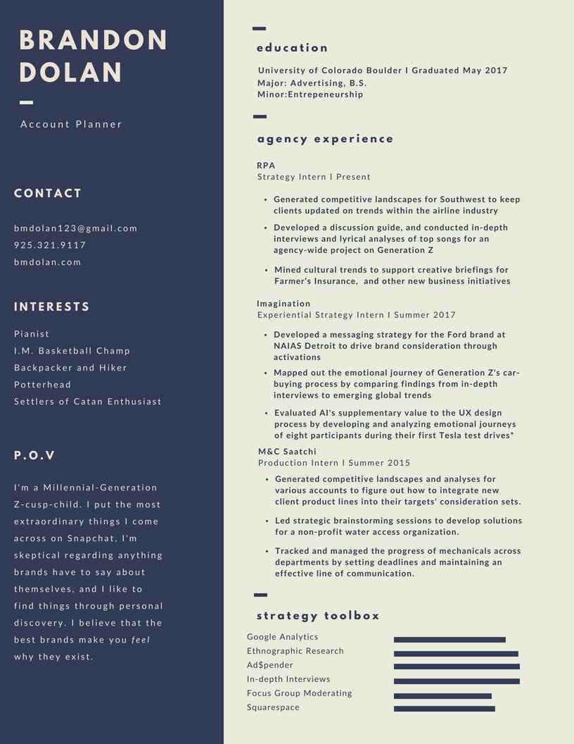 Resume — Brandon Dolan