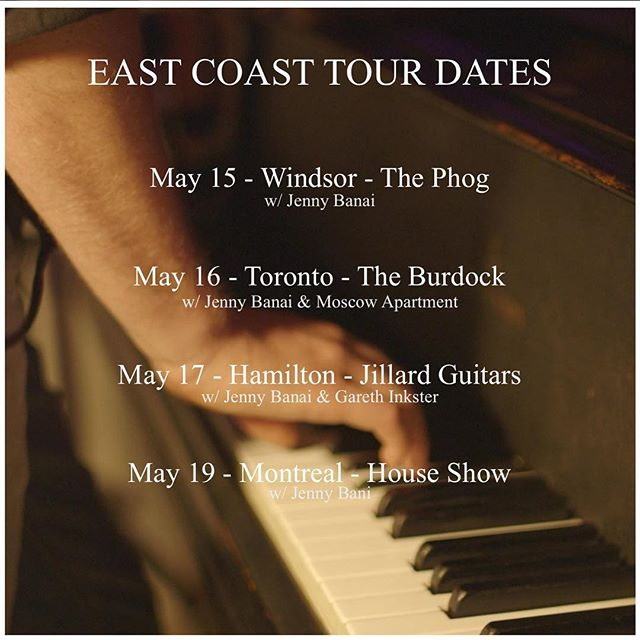 Hey friends, next week I'll be heading out east to play a few solo shows alongside @jennybanai. If you know anyone, I wanna make some new friends! I'll also be drumming for Jenny so be sure to check her page for additional dates.  #windsor #toronto #montreal #hamilton #music #livemusic