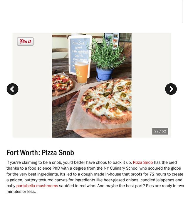 Super humbled that Food Network named us best Pizza spot in Fort Worth! Thank you DFW Pizza Snobs! https://bit.ly/2ykOHNg #foodnetwork #nomnom #gourmetpizza #tcu #dfw #greateats #76109 #dfweats #localfood #pizza #scrumptious #localeats #bestcrewontheplanet