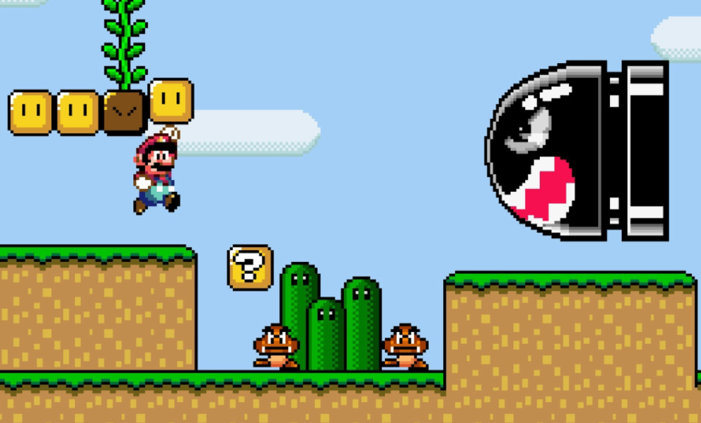 Super Mario World is a masterpiece. The challenge comes from the gameplay. The controls are intuitive.