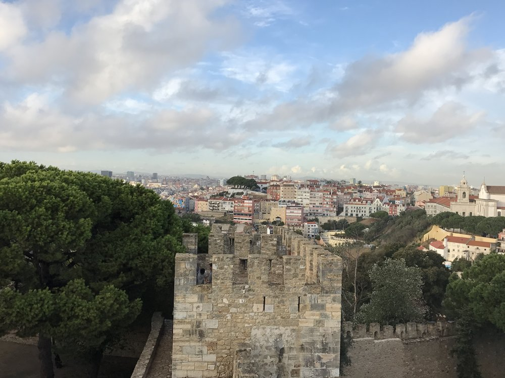 View from one of the towers - Castelo De S. Jorge