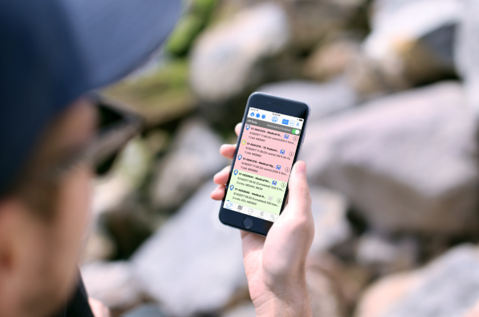 The FRX mobile app provides users with the ability to receive, store and review the latest real-time Incidents for quick reference in the field.