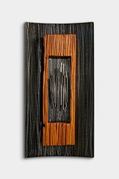 "Steel & Reclaimed Wood, 59"" x 30"" x 7"""