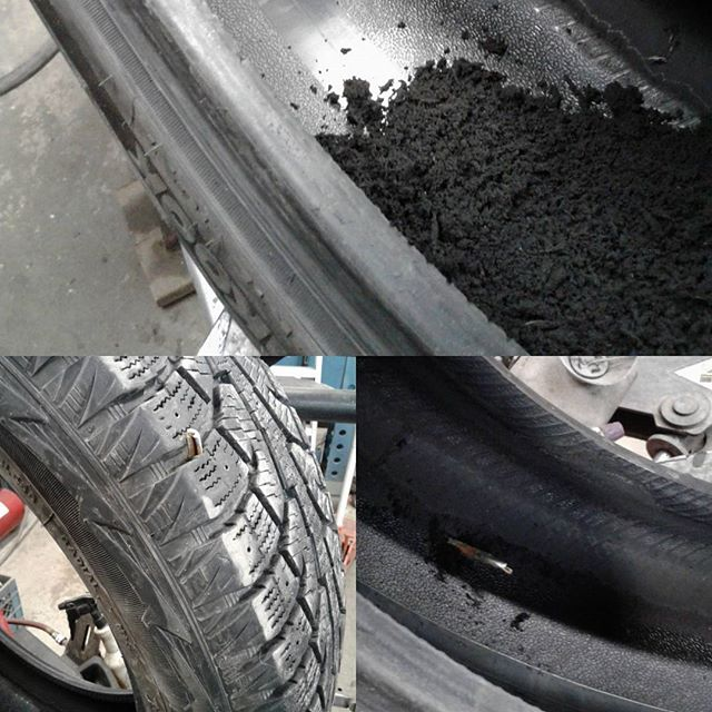 Beware of debris on the road. This scrap was picked up on Deerfoot Trail and the tire had to be replaced. Should this happen to you we can help. #tires