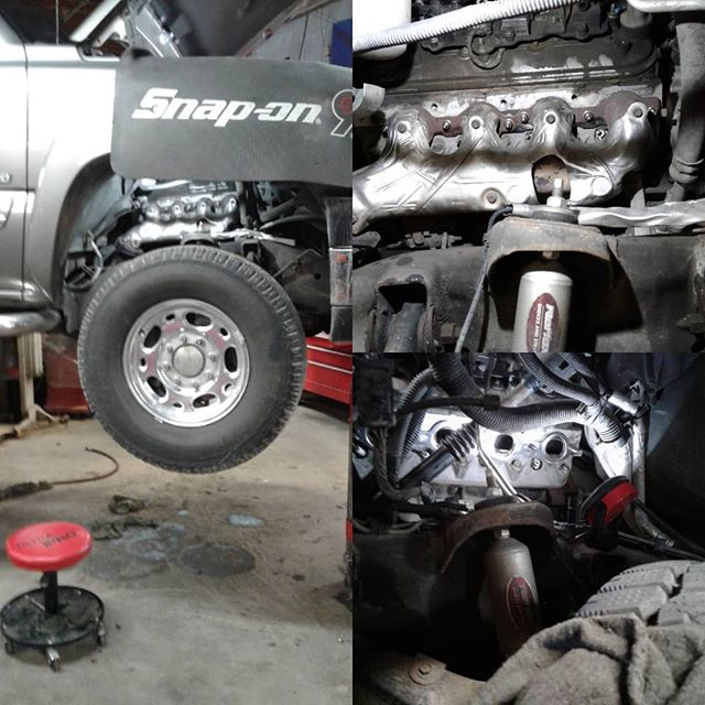 2007 Chevrolet Silverado 2500. All the LS engines are prone to exhaust manifold leaks due to broken bolts, we are installing the ARP Stainless Steel  Stud Kit. This upgeade will fix the problem. NO MORE TICKY ON START UP