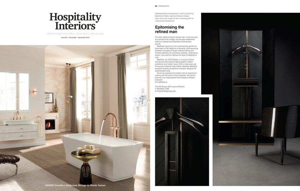 Hospitality Interiors, November-December 2016