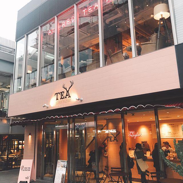 Tea yes, you maybe #dayone #alfredtea #alfredtearoomjapan #alfredtearoomaoyama #aoyama #tokyo #teanotcoffee #tearoom #bubbletea #pinktearoom