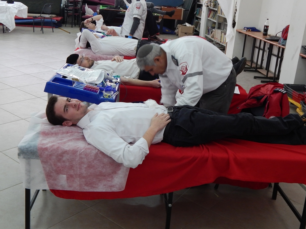 Our students donating blood