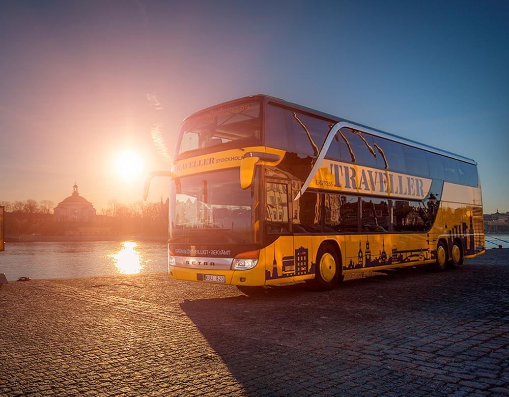 Busstransport till konferens i Stockholm.