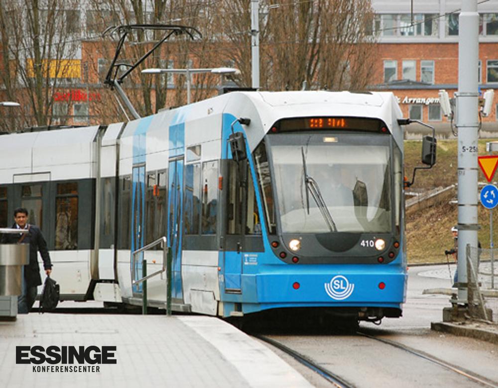 Tvärbanan går till Essinge Konferenscenter.