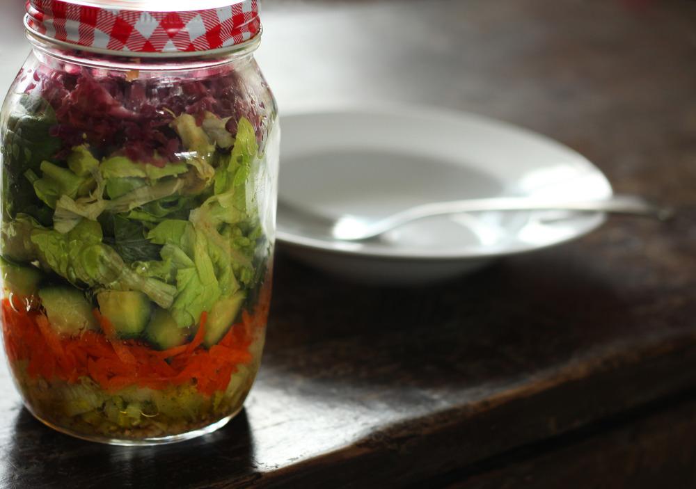 Layered Salad Jar