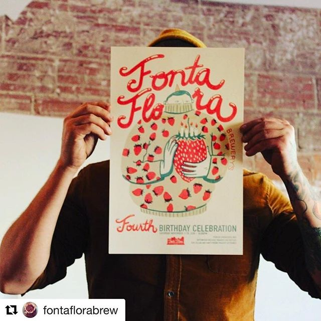 @fontaflorabrew got the 4th anniversary posters printed by the fine folks @woollypress! 👀 Looks awesome! 🍻