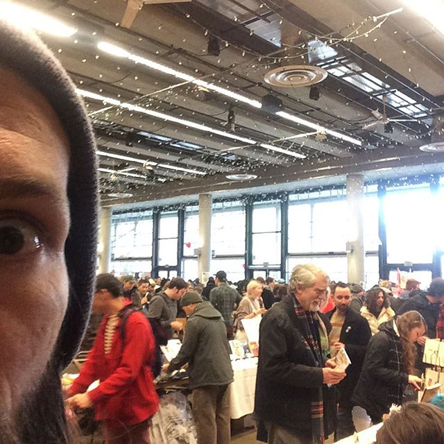 @shortrunseattle is packed! Lots of really awesome folks have already come through. I'll be here until 6pm at the Fisher Pavilion in the Seattle Center. Come on by and say hey! #comics #illustration #comiccon #independent #smallpress