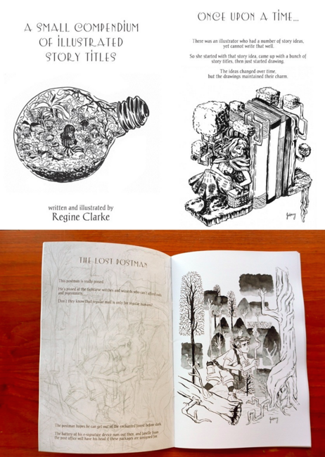 Regine Clarke's 'A Small Compendium of Illustrated Story Titles'