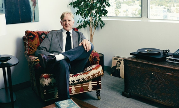 T Bone Burnett, the Founder, Electromagnetic Recordings and VP A&R, Capitol Records,photographed in his Capitol Records office in Hollywood on July, 22, 2015