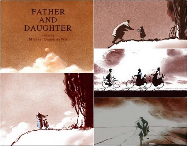 "Stills from Michael Dudok de Wit's Oscar-winning short ""Father and Daughter"""