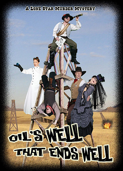Poster for Moore's current theatrical work, 'Oil's Well That Ends Well'