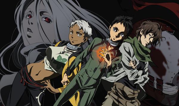 Nagi (far right) of 'Deadman Wonderland'