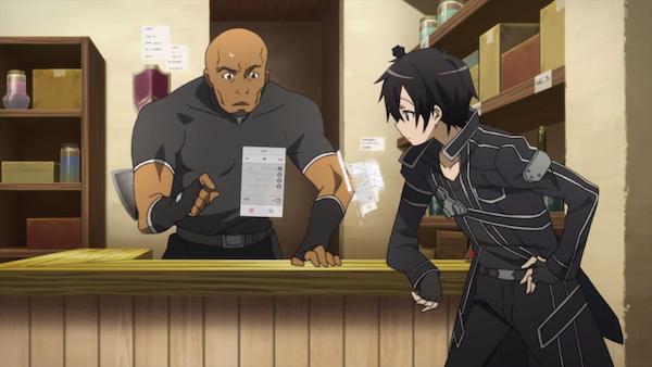 Agil (left) of 'Sword Art Online'