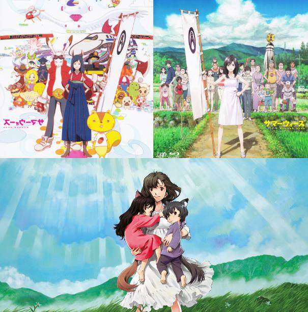 Mamoru Hosoda's 'Summer Wars' (top) and 'Wolf Children'