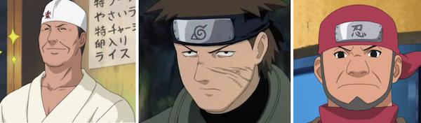 Teuchi, Raido Namiashi, & Katsuchi of 'Naruto'