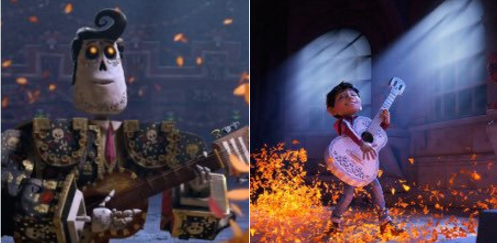 'The Book of Life' (left) and 'Coco
