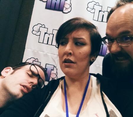 'That Anime Show' crew - J. Michael Tatum (left), Doty, and Stephen Hoff