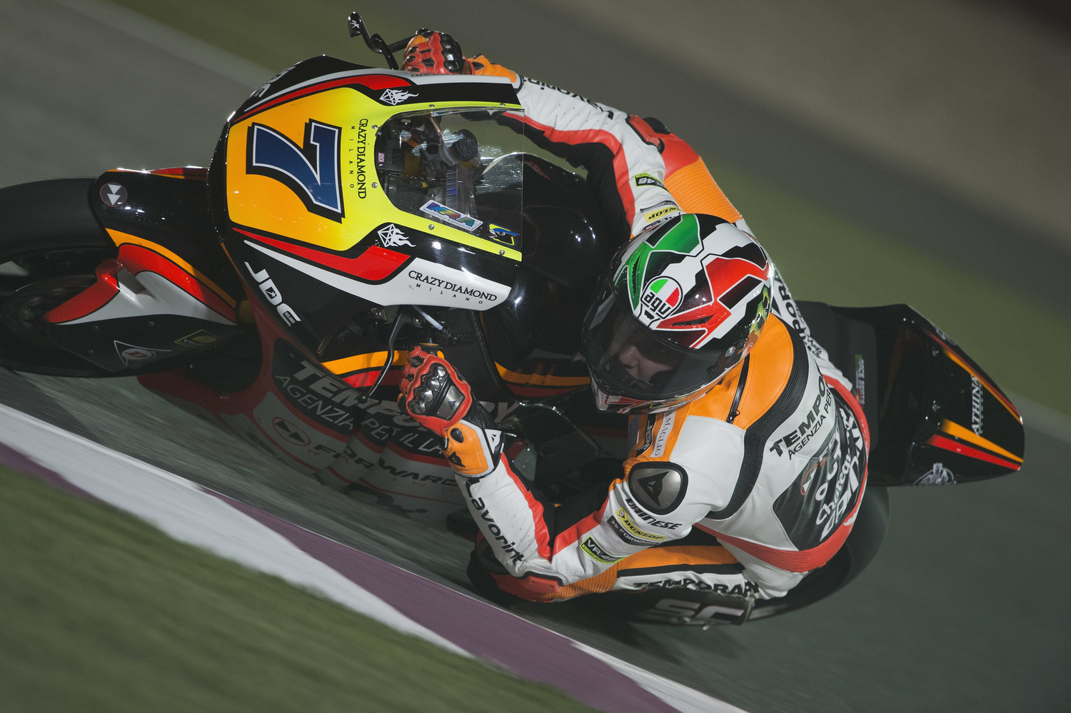 Things are getting serious in Qatar, positive day one for the Forward Racing Team.