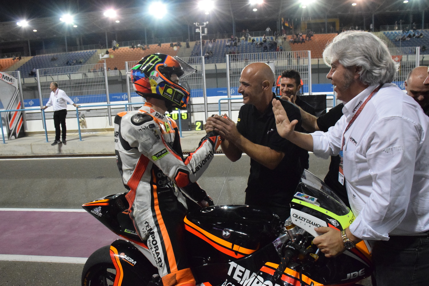 Luca Marini tenth after a superb debut