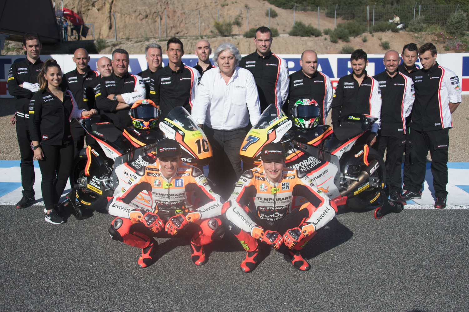 Lorenzo Baldassarri and Luca Marini will be riding for Forward also in 2017