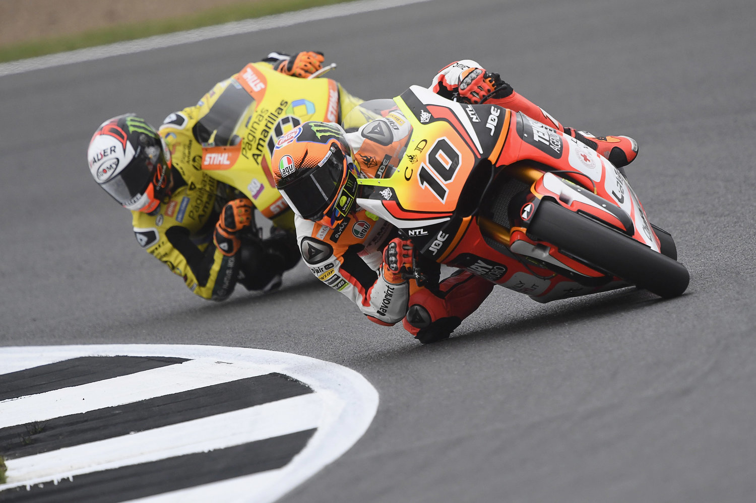 Baldassarri and Marini's free practice interrupted by the rain