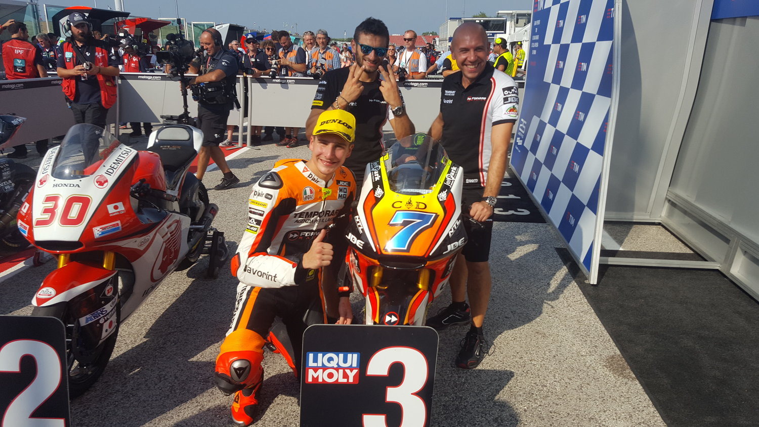 Fantastic front row for Baldassarri at home Grand Prix in Misano