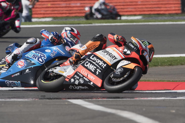 Marini and Baldassarri fought bravely through demanding Silverstone race