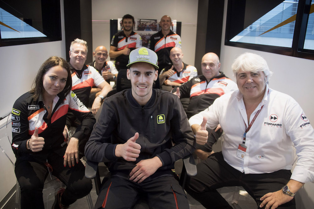 Forward Racing Team and Stefano Manzi together in 2018