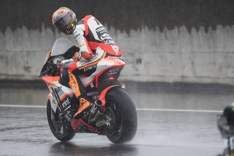 Japan welcomes Marini and Baldassarri with a rainy Friday