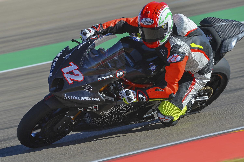 Test ufficiali del Forward Racing Team con MV Agusta ad Aragon