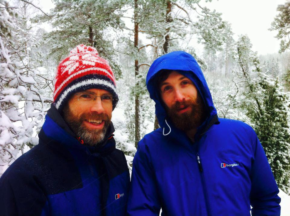 Tom Allen and Luke Morrison in Helsinki