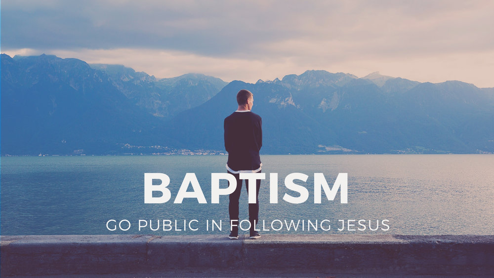 NEXT STEPS - BAPTISM