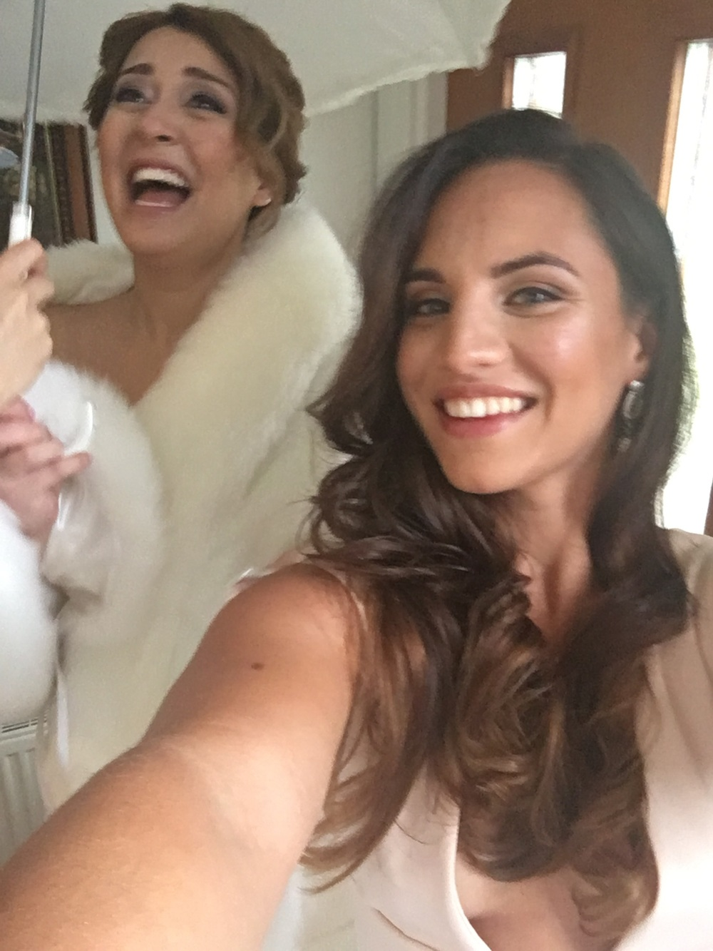 This is us at her wedding, i was bridesmading the shit of it of course