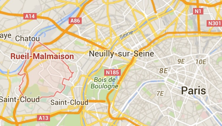 To give you an idea of the location. Rueil - woods- Paris