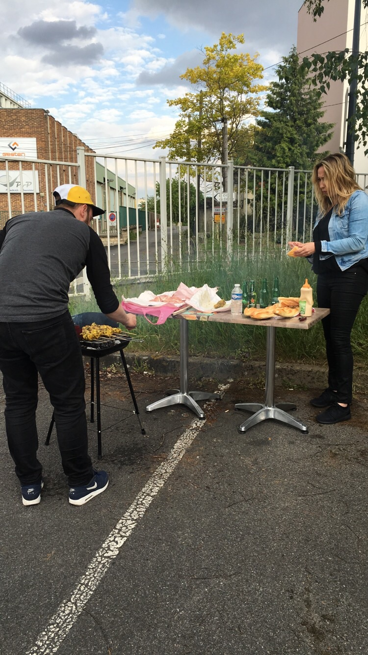 That was no joke - a little bbq outside the gym. I'd like to see that outside of S.A.T.S haha