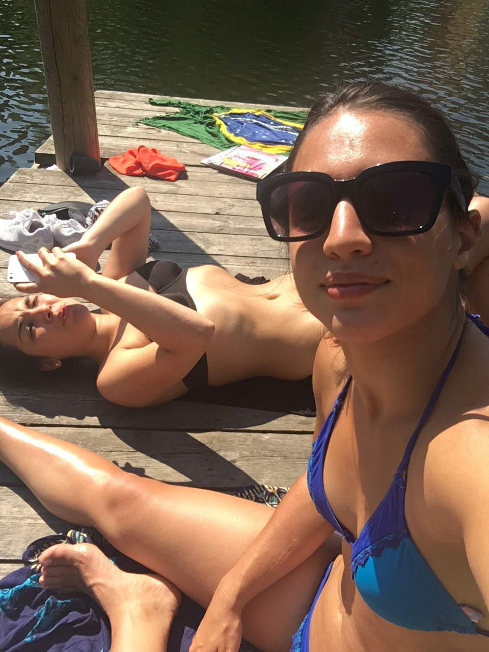 Marina and I getting our tan on