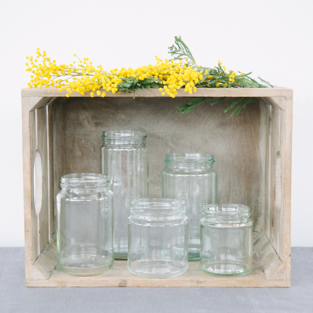 JAM JARS - ROUND & SQUARE SHAPED - mini, small, medium & large