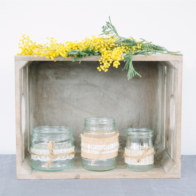 T-LIGHT HOLDERS - MINI JARS & VOTIVES - can come clear or decorated to your preference